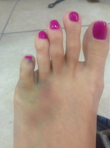 At least my pedicure looks good!